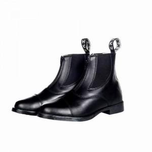 Ботинки кожа с эласт. вставкой и молнией