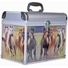 Ящик для щеток алюминиевый с лошадками