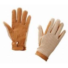 Перчатки кожа с вязаным верхом