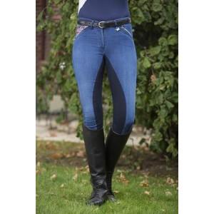 Бриджи джинсовые Глобал Тим с полной леей